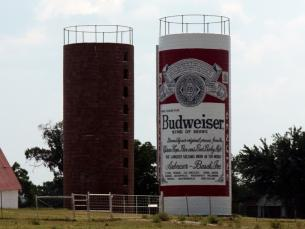 Giant Budweiser Beer Can