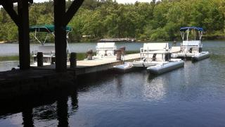 The marina at Lake Wedington