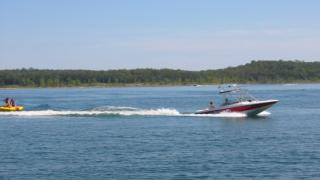 Tubing on Lake Norfork