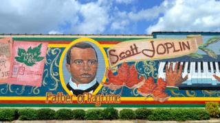 Scott Joplin mural in Texarkana