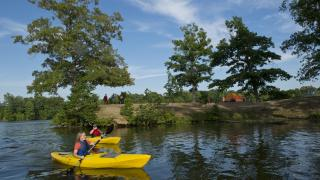 kayaking on Bear Creek Lake