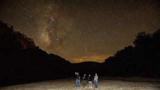 The night sky along the Buffalo National River