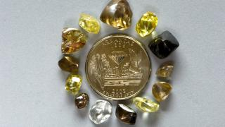 Diamond finds at Crater of Diamonds State Parks