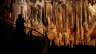 Formations in Blanchard Springs Caverns in Mountain View, Arkansas