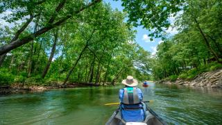Paddling the Caddo River