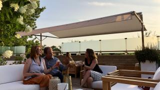 Rooftop bar at The Preacher's Son restaurant in Bentonville, Arkansas