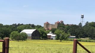 Subiaco Abbey as seen on the True Grit Trail in Arkansas