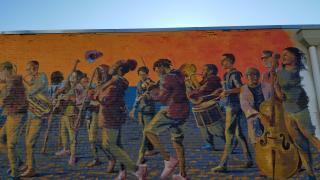Mural at 350 Malvern Avenue in Hot Springs
