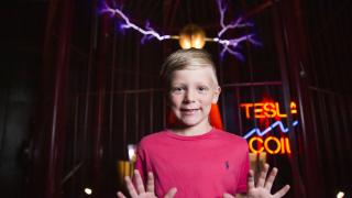 The Guinness World Record for most powerful Tesla coil at Mid American Science Museum, Hot Springs
