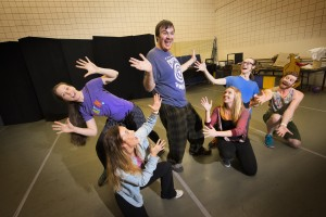 "The cast of ""Schoolhouse Rock Live!"" in rehearsals for the upcoming Arkansas Arts Center Children's Theatre staging of the beloved animated series"