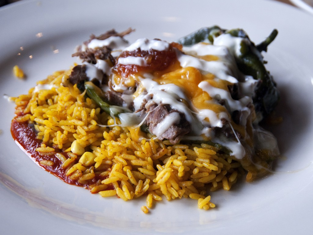Bentonville Table Mesa Beef Stuffed Chile Relleno