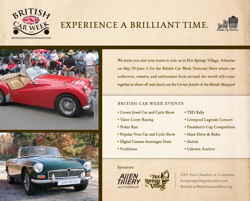 British Car Week National Meet Heads to Hot Springs Village
