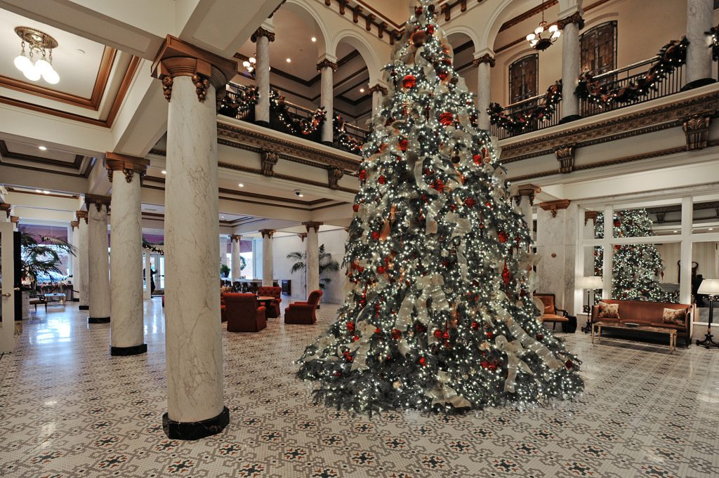 The Capital Hotel's grand Christmas tree