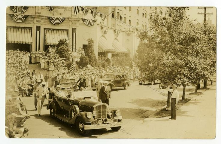 U.S. President Franklin D. Roosevelt visiting Hot Springs in 1936. Photo care of the Arkansas History Commission.