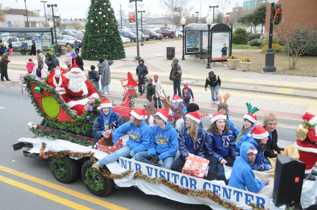 Santa making his appearance at the 2009 North Little Rock Sertoma Christmas Parade