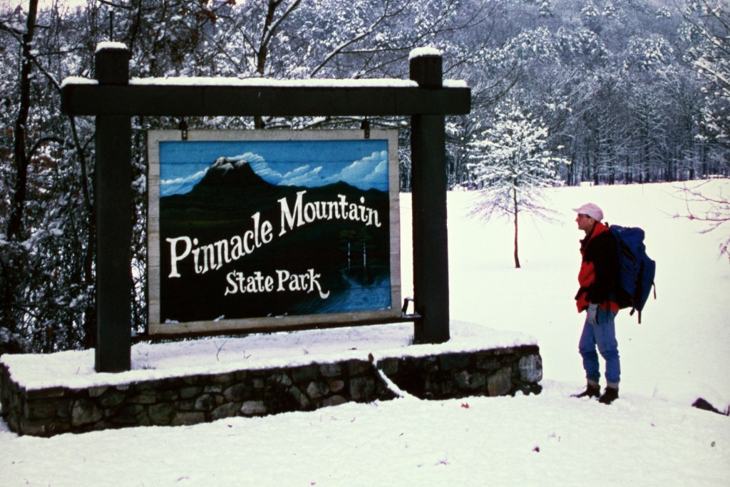 Pinnacle Mountain State Park in winter