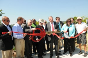 Ribbon cutting to celebrate grand opening of Rockwater Marina. Photo by Z. Clift