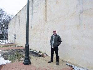 Kirk Demarias at the future mural site.