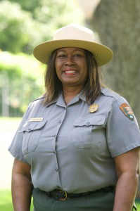 Tarona Armstrong, Superintendent of the Clinton Birthplace Home National Historic Site in Hope. Photo by Z. Clift