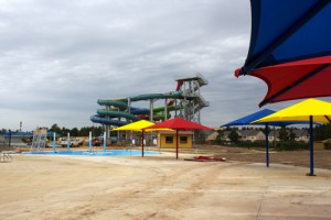 Photo of Holiday Springs Water Park under construction in early June. Photo by Kat Robinson.