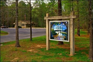 cane creek state park new sign