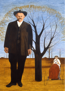 "A Carroll Cloar painting. This one is called ""My Father Was Big as a Tree."" Copyright Estate of Carroll Cloar"