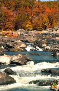 Fall scene of the Cossatot River.