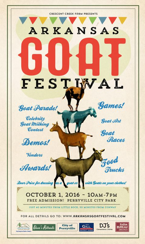 Arkansas goat festival, oct 1, perryville