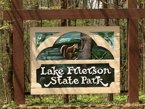 lake frierson state park sign