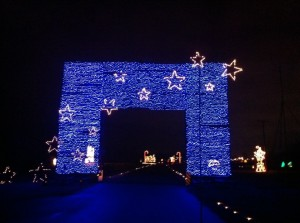 lights of the delta blue wall