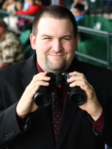 New Oaklawn track announcer Pete Aiello. Photo by Oaklawn.